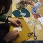 Stitching, sewing, cutting