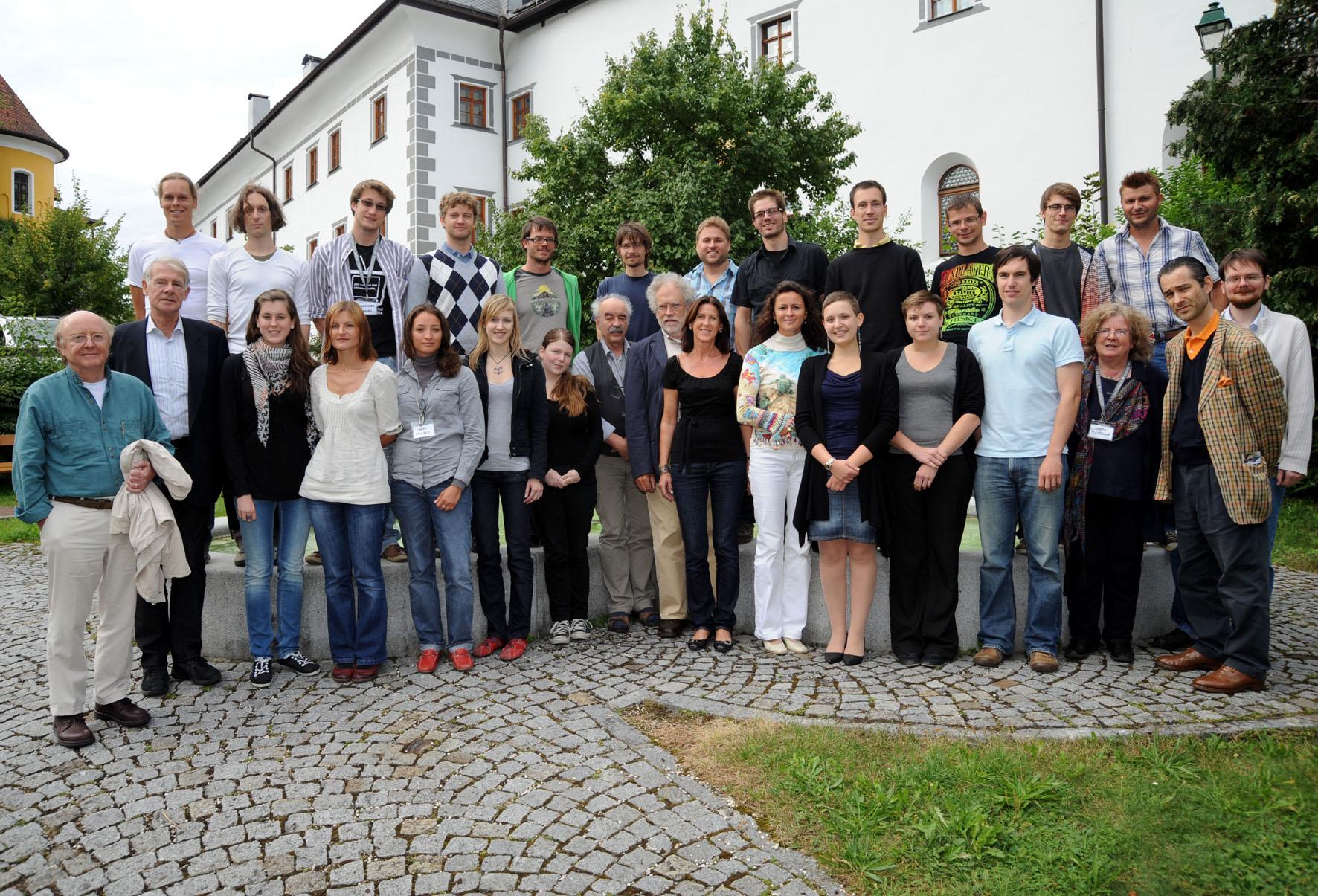 """Invited participants of the workshop """"Die Zeit und das Denken""""."""
